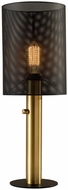 Adesso 4323-21 Nico Modern Black and Antique Brass 8  Table Light