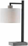 Adesso 5018-01 Devin Modern Black with Grey Cement Table Lamp Lighting