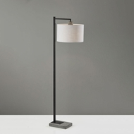 Adesso 5019-01 Devin Modern Black with Grey Cement Floor Light