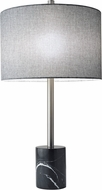Adesso 5280-01 Blythe Contemporary Brushed Steel Table Lighting