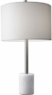 Adesso 5280-02 Blythe Contemporary Brushed Steel Lighting Table Lamp