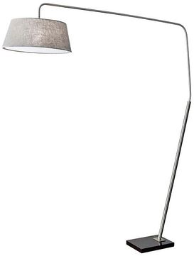Adesso 5412-22 Ludlow Contemporary Brushed Steel Floor Lamp Light