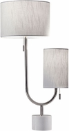 Adesso 5425-22 Sloan Modern Polished Nickel Table Top Lamp