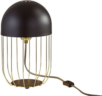 Adesso 6009-04 Lionel Contemporary Matte Black and Shiny Gold Side Table Lamp