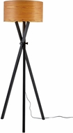 Adesso 6207-01 Bronx Modern Black Wood Floor Lamp