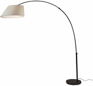Adesso 6281-01 Mulberry Contemporary Matte Black Floor Lamp Light