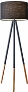 Adesso 6285-01 Louise Modern Black Painted Metal Light Floor Lamp
