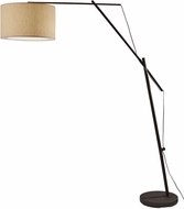 Adesso 6304-01 Broome Contemporary Rough Matte Black Floor Lamp Lighting