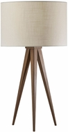 Adesso 6423-15 Director Contemporary Metal with Rosewood Veneer Table Lamp
