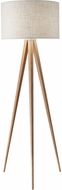 Adesso 6424-12 Director Contemporary Natural Oak Veneer Floor Lamp