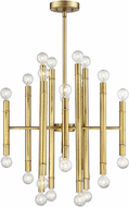 Affordable Lighting Contemporary Natural Brass Mini Lighting Chandelier
