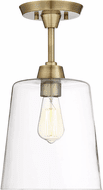 Affordable Lighting Contemporary Natural Brass Flush Mount Ceiling Light Fixture
