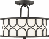 Affordable Lighting Contemporary Oil Rubbed Bronze Flush Mount Light Fixture