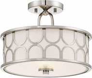 Affordable Lighting Contemporary Polished Nickel Flush Mount Lighting Fixture