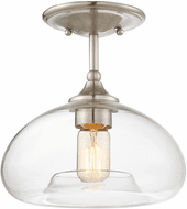 Affordable Lighting Contemporary Brushed Nickel Overhead Lighting Fixture