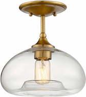 Affordable Lighting Contemporary Natural Brass Ceiling Light