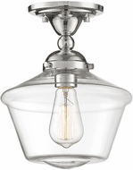 Affordable Lighting Contemporary Polished Nickel Flush Mount Ceiling Light Fixture