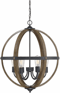 Affordable Lighting Wood and Black 24  Ceiling Light Pendant