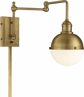 Meridian M90052NB Modern Natural Brass Wall Swing Arm Lamp