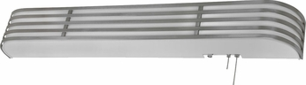 AFX BBB325SAE8 Bilbao Satin Aluminum Fluorescent Overbed Wall Mounted Lamp