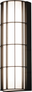 AFX BDWW083035LAJD2BZ Broadway Contemporary Textured Bronze LED Outdoor 30  Lamp Sconce
