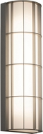 AFX BDWW083035LAJD2TG Broadway Modern Textured Grey LED Exterior 30  Wall Sconce Lighting