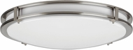 AFX CAF121200L Carlisle Modern Satin Nickel LED Indoor / Outdoor 12  Ceiling Light Fixture