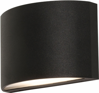 AFX CLTW060410L30D2BK Colton Contemporary Black LED Outdoor Wall Mounted Lamp