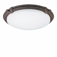 AFX CRR313REC Reed & Ribbon Rust Fluorescent Flush-Mount Ceiling Light
