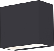 AFX DKTW050410L30D2BK Dakota Contemporary Black LED Outdoor Wall Sconce Light