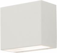 AFX DKTW050410L30D2WH Dakota Modern White LED Exterior Wall Sconce