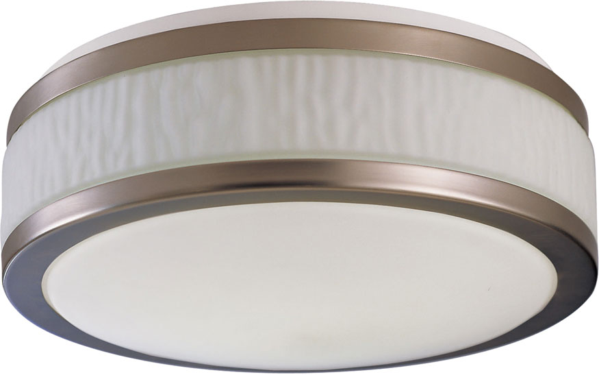 Afx Fuf162400l30d1sn Fusion Satin Nickel Led 15 5 Nbsp Flush Mount Ceiling Light Fixture Loading Zoom