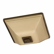AFX GGF218RBSCT Glasgow Fluorescent Outdoor Flush-Mount Ceiling Light