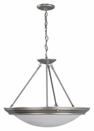 AFX H7313BNSCT Small 22 Inch Diameter Brushed Nickel Transitional Pendant Lighting