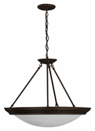 AFX H7313RBSCT Small Transitional Oil Rubbed Bronze Inverted Pendant Lamp