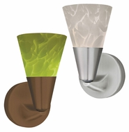 AFX LASL45027 Contemporary 8 Inch Tall Wall Light Sconce With Glass Options