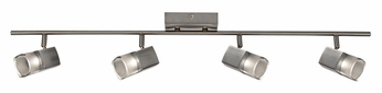 AFX MTRF4200LEDSN3K 4 Lamp Satin Nickel Finish Contemporary Monorail Lighting