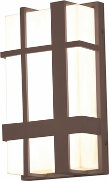 AFX MXW7122500L30MVBZ Max Contemporary Textured Bronze LED Outdoor 12 Lamp Sconce