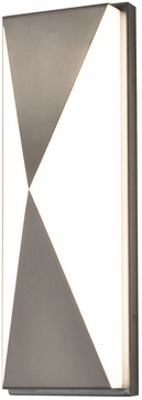 AFX NVS5131200L30D1SN Novara Contemporary Satin Nickel LED Outdoor 13  Wall Lighting Sconce