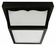 AFX OCFW70050LBK Outdoor Flush Mount Black LED Ceiling Light