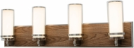 AFX RNV30082400L30D1SN Arden Satin Nickel LED 4-Light Vanity Lighting