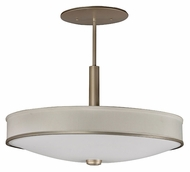 AFX SHP413ACMV Small 4 Lamp Champagne Finish Hanging Lamp - 25 Inch Diameter