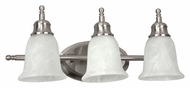AFX TCV313SNSCT 3 Lamp Transitional Style Satin Nickel Vanity Lighting