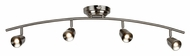 AFX TRRF4200LEDSN3K LED 36 Inch Wide 4 Lamp Satin Nickel Monorail Track Lighting