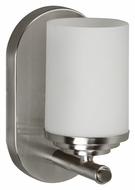 AFX VNS113SNSCT Transitional Style Satin Nickel Wall Light Sconce - 8 Inches Tall