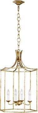 AH Alexa Hampton AC1014ADB Bantry House Antique Gild Foyer Light Fixture