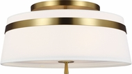AH Alexa Hampton AF1153BBS Cordtlandt Burnished Brass Flush Ceiling Light Fixture