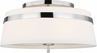 AH Alexa Hampton AF1153PN Cordtlandt Polished Nickel Flush Mount Ceiling Light Fixture