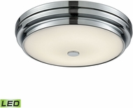 Alico FML4725-10-15 Garvey Chrome LED Small Flush Ceiling Light Fixture