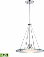 Alico LC414-PW-80 Tribune Contemporary Chrome LED Pendant Light Fixture